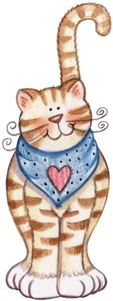 Always ready, available, to love You more. Prince Charming with a heart on his chest. Sweet kitty