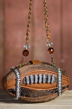 It S A Football Shaped Purse Mary Frances Touchdown