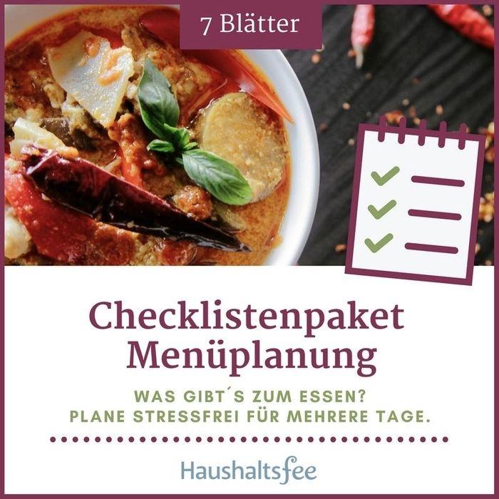 Checkliste Küche & Einkaufen Haushaltsfee elopage