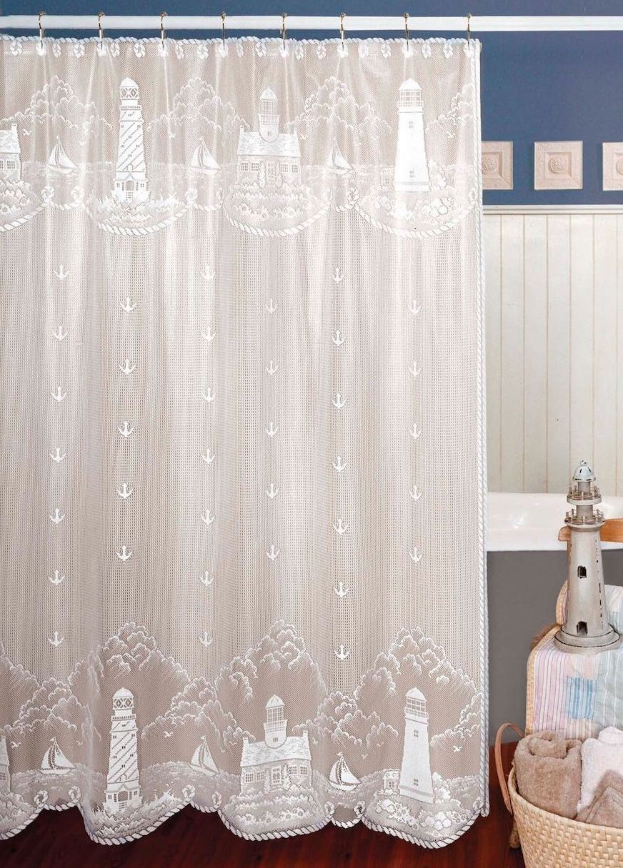 Lighthouse Shower Curtain Lace Shower Curtains Curtains Shower
