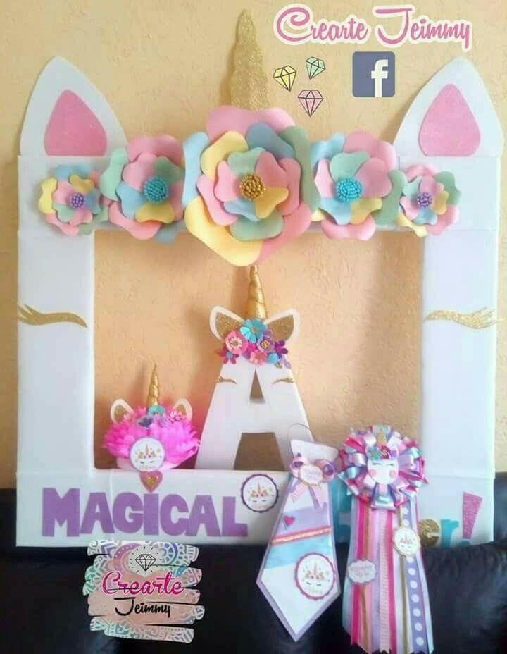 Fiesta abril abril cumple pinterest unicornio for Decoracion marcos fotos