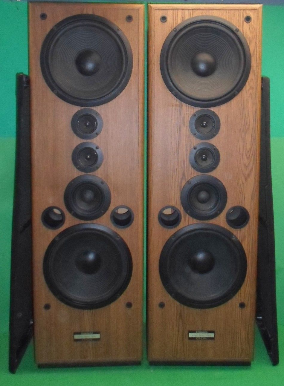 vintage pioneer cs c911 4 way speaker system pair good. Black Bedroom Furniture Sets. Home Design Ideas
