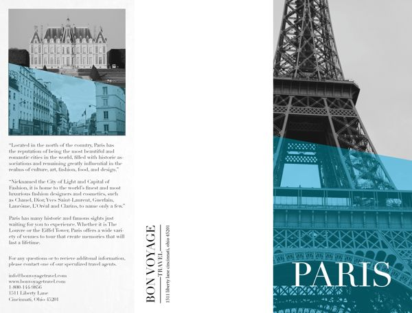 Paris Travel Brochure By Ana Campbell Via Behance  Brochure