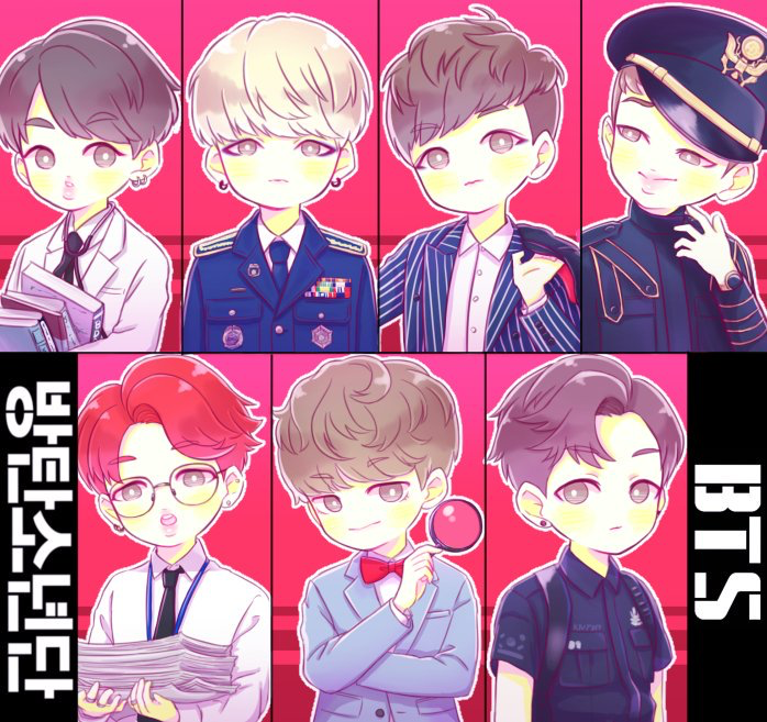 Who ever drew this picture, can you teach me! Jin, Suga, J