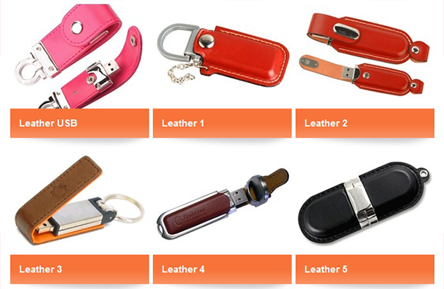 Branded Leather USB Flash Drives