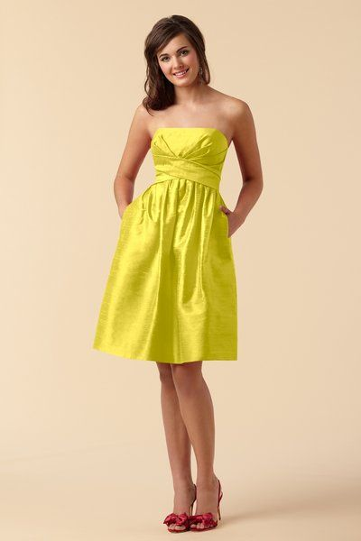 Watters Style 6451 - Lemon Dupioni Silk