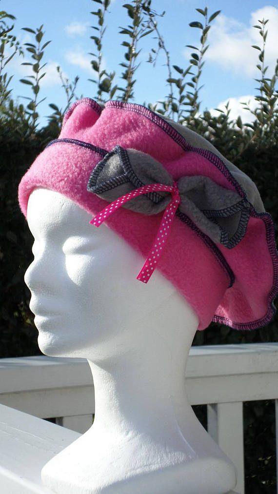 bonnet chapeau b u00e9ret lin u0026 39 eva cr u00e9ateur polaire gris et rose