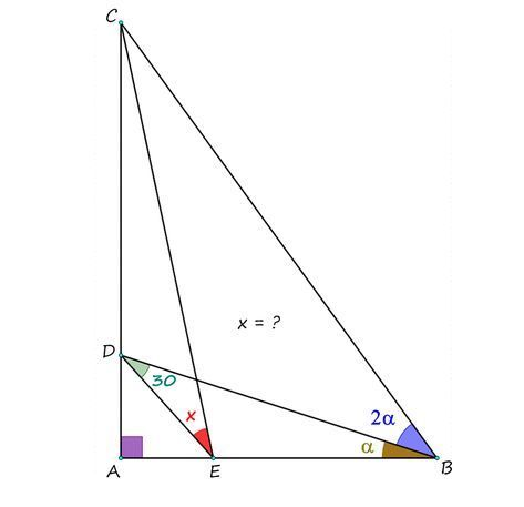 Angles in a Right Triangle from China #mathematics #