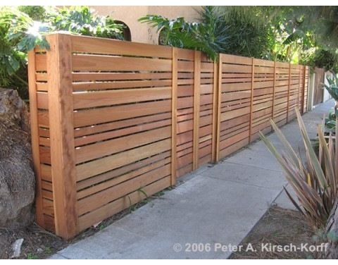 How Can I Build A Horizontal Cedar Fence Without The Clips