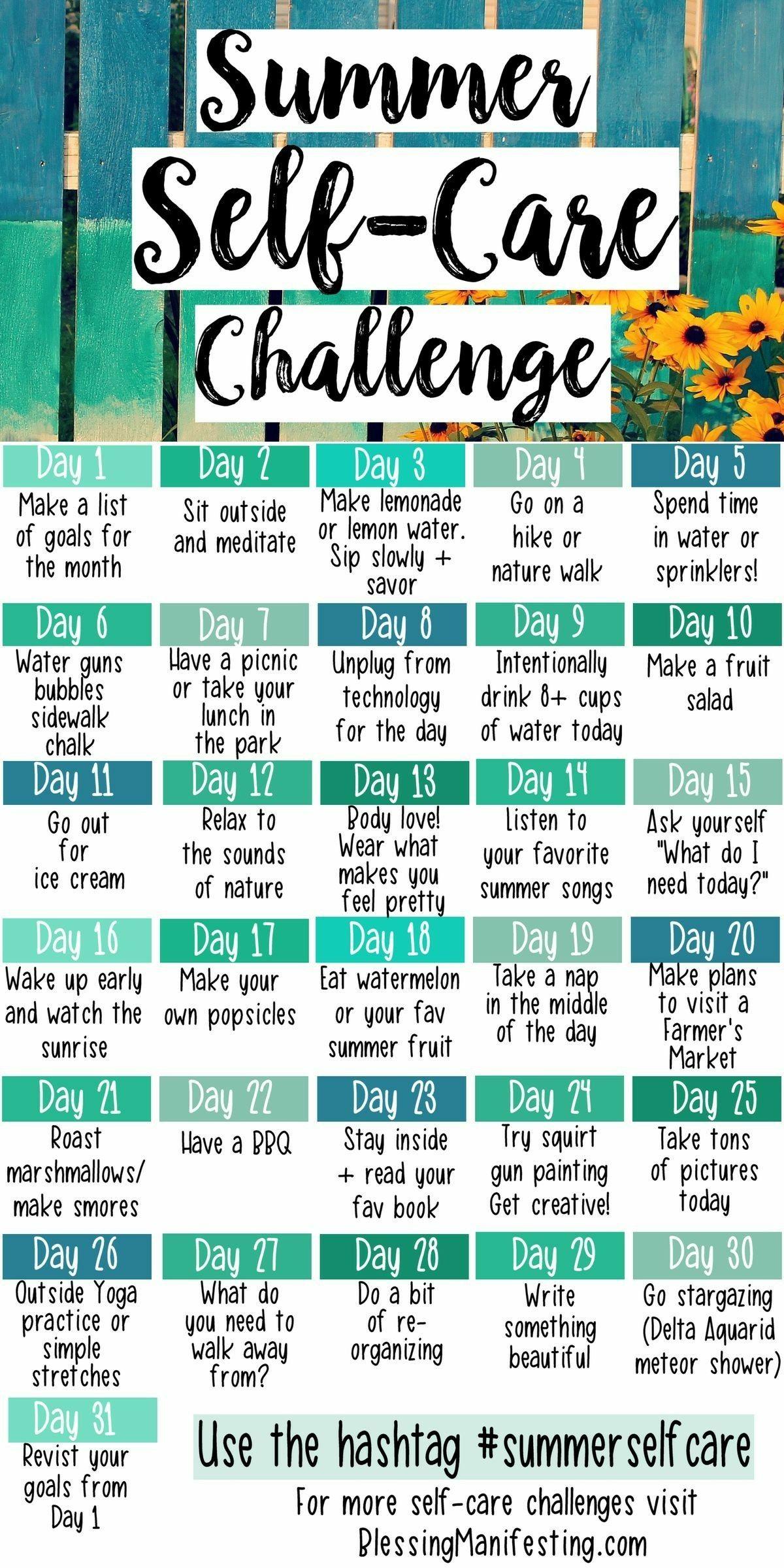 Summer Ideas Wellbeing Wellness Personaldevelopment