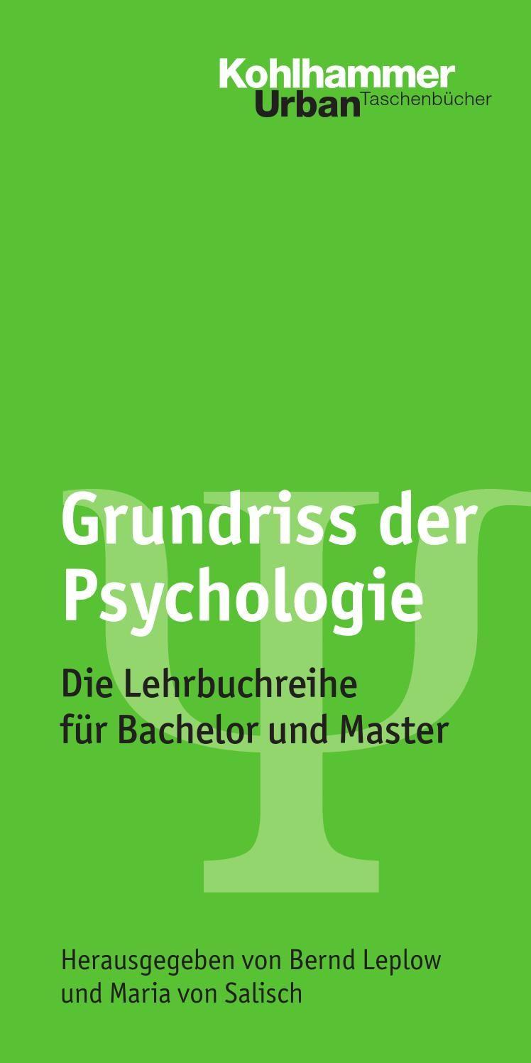 Grundriss der Psychologie Psychologie studium, Klinische