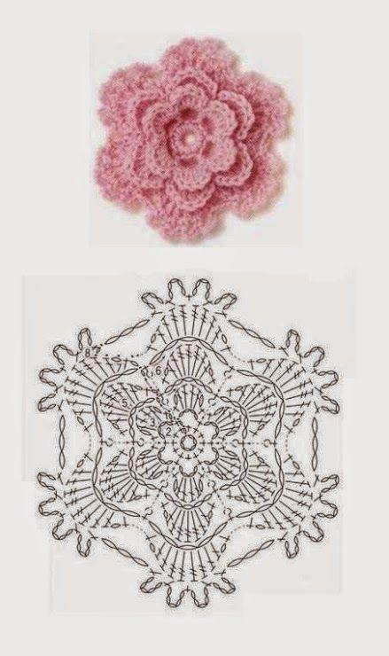 SANDRA PONTOS DE CROCHÊ E TRICÔ...........: Flor de Crochet ...