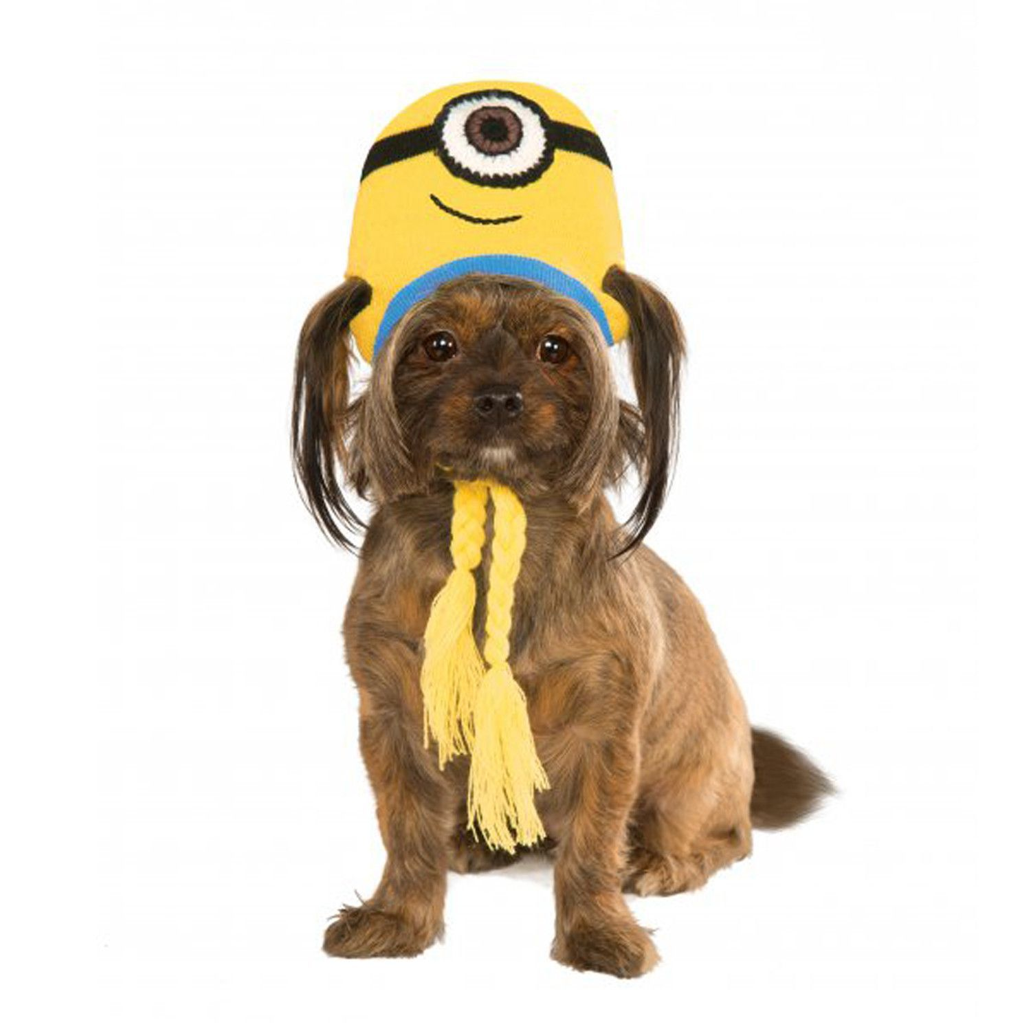 ef05a5a4ecd2d Make dressing up fun and easy for you and your dog with the Minion Knit Dog  Hat Costume Stuart this Halloween! - Stuart the Minion costume knit hat with  ...