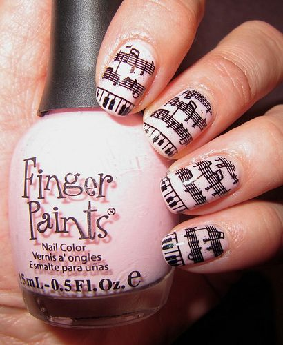 Piggieluv Freehand Stairway To Heaven Nail Art: Nails, Music Nails, Funky Nails