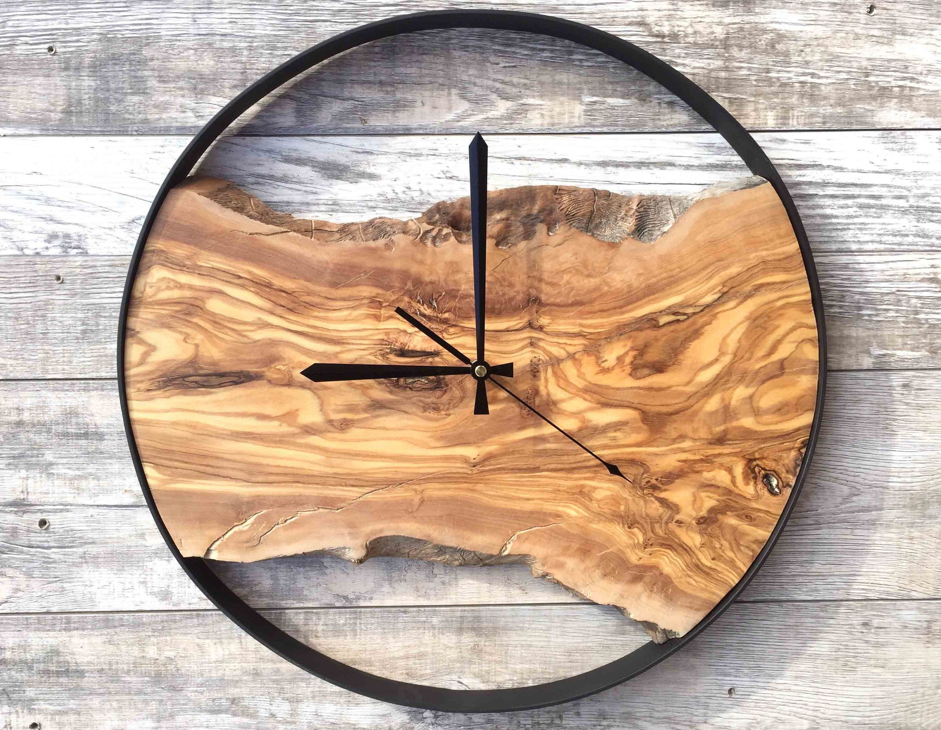 Clocks For Wall Wooden Wall Clock Wood Wall Clock Modern Wood Clock Large Clock Wall Unique Wall Clock Wood Live Edge Wood Wall Clock Wood Clocks Wood Clock Design