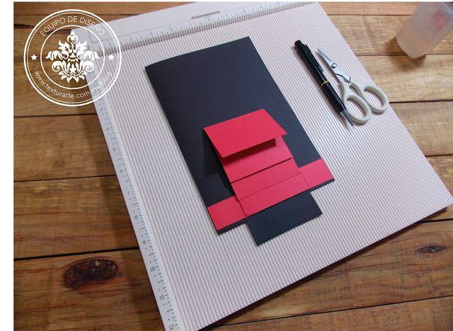 TUTORIAL GRATIS Te traemos el tutorial es de una tarjeta con una cascada al centro, es muy sencilla pero queda increíble, no te la puedes perder !!! #texturarte #love #scrapbook #scrapbooking