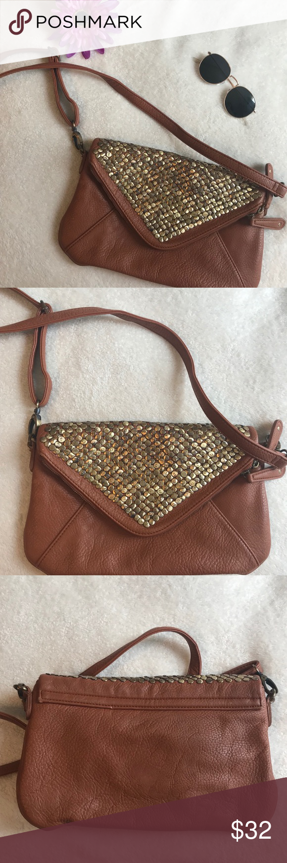 9d87678ef248 URBAN OUTFITTERS kimchi blue brown bag💕 My favorite bag of all time!!  Super cute for any occasion! Only flaw with the bag is it doesn t snap when  you close ...