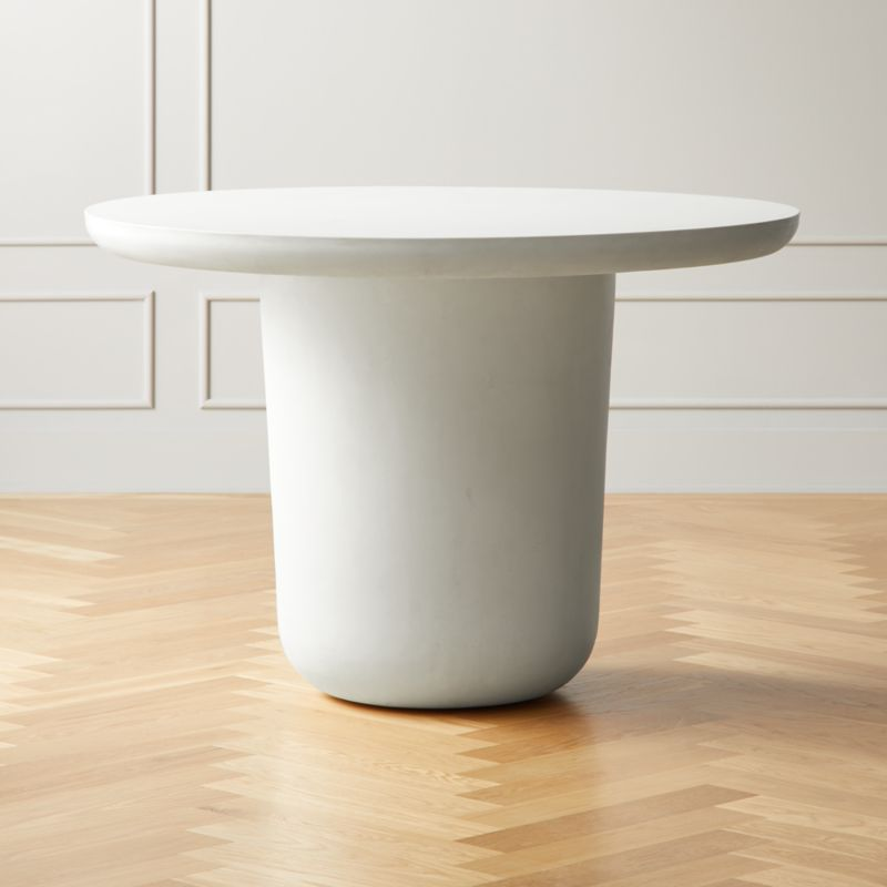 Lola Round Concrete Dining Table Round Concrete Dining Table