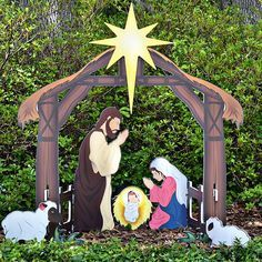 Holy night printed outdoor nativity set christmas ideas yard nativity sets built to last waterproof plastic yard nativity set will not fade or warp find out more about our yard nativity scene aloadofball Gallery