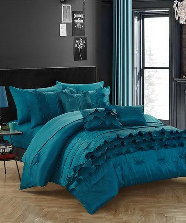Another Great Find On Zulily Teal Amara Comforter Set