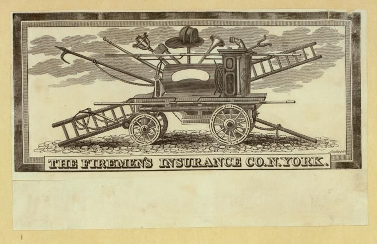 The Firemen's Insurance Company sample illustration by Alexander Anderson.
