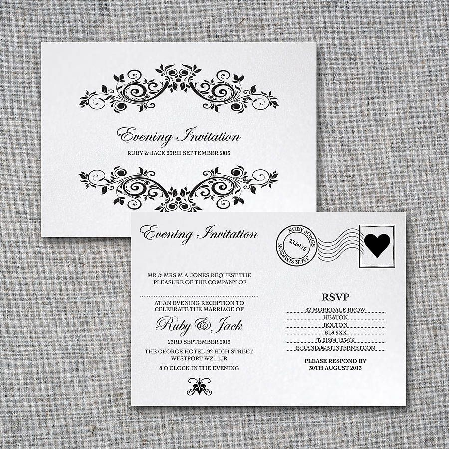 Nice Tips For Choosing Postcard Wedding Invitations Free Check More At