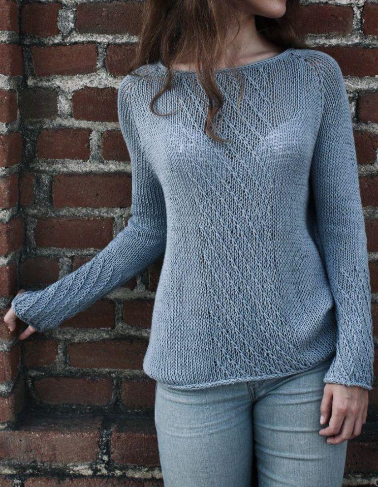 Rain. Textured Sweater Pattern | Sweater knitting patterns, Knitting ...