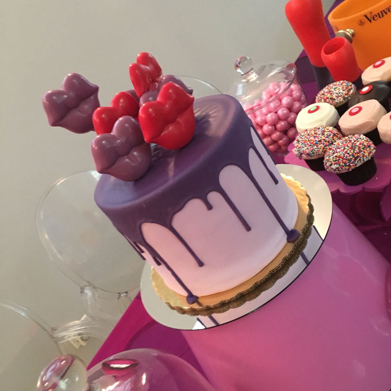 Kylie Jenner Inspired Birthday Cake On Land Of Nod Pink Metal Shade