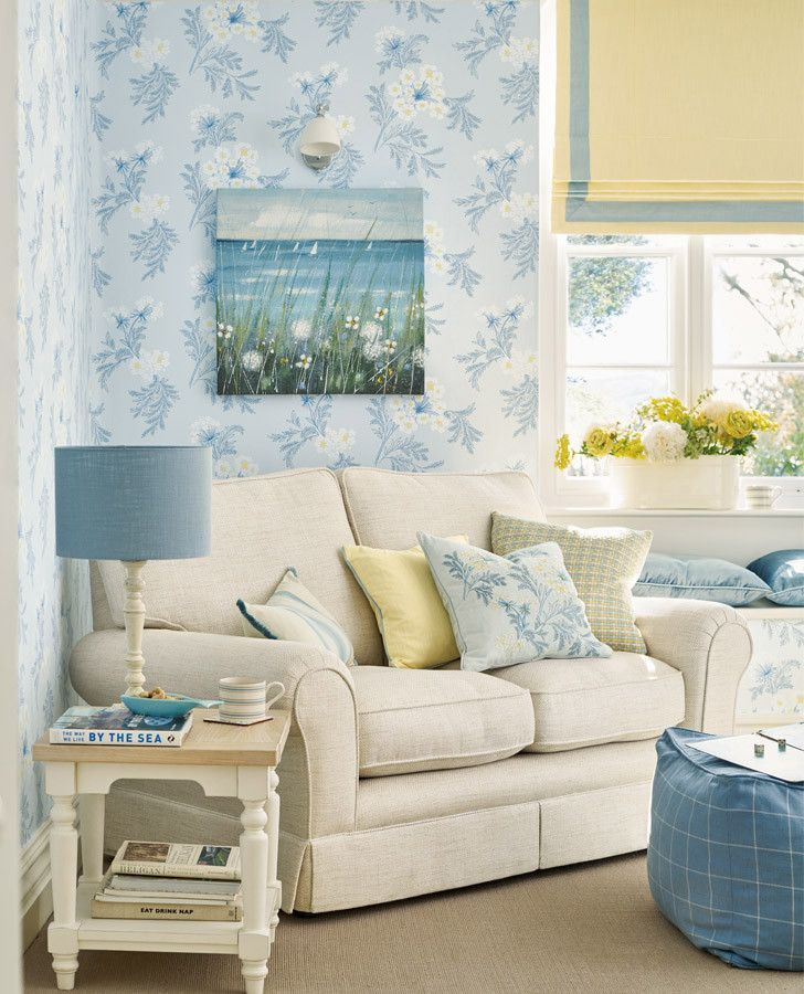 Living Room Ideas Laura Ashley sandford embroidered seaspray cushion | laura ashley, interiors