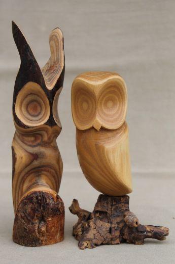 Paar Eulen Vintage rustikale moderne abstrakte Holzschnitzerei Skulptur Peterson - Kanada $ 34.75 US - #abstrakte #carving #Eulen #Holzschnitzerei #Kanada #moderne #Paar #Peterson #Rustikale #Skulptur #Vintage #rusticwoodprojects