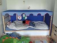 betthimmel kura ikea selbst gen ht baldachin ritter ritterzelt kinderzimmer. Black Bedroom Furniture Sets. Home Design Ideas