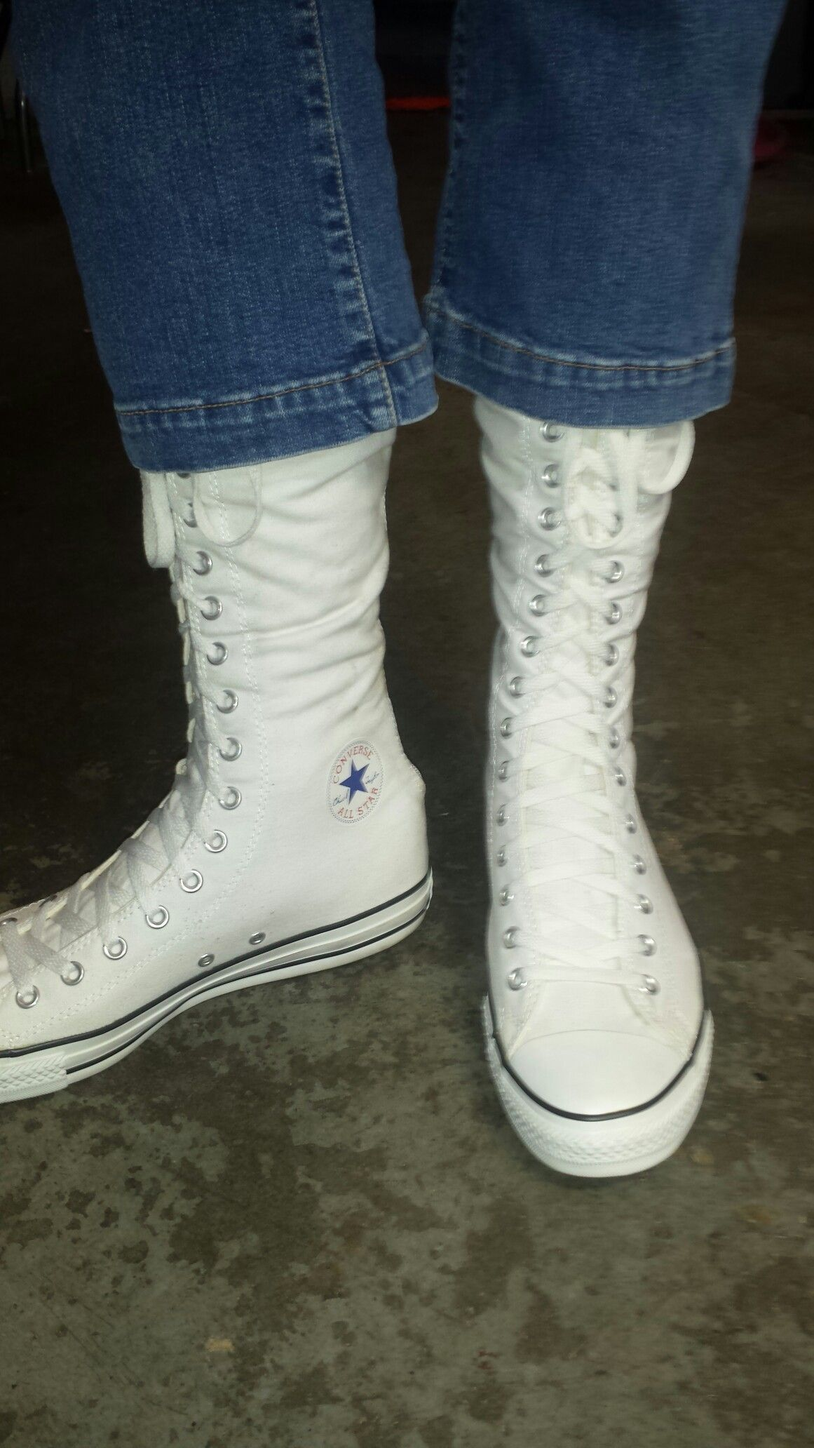 Capri jeans and XXHI Converse. Find this Pin and more on My collection of knee  high ... c555c80fa