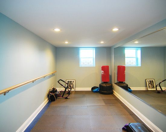 Spaces small home gyms design pictures remodel decor for Home gyms small spaces