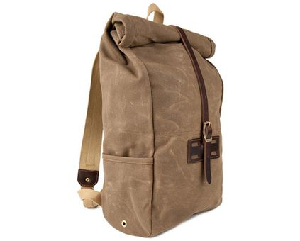 Archival Clothing Waxed Roll Top Bag