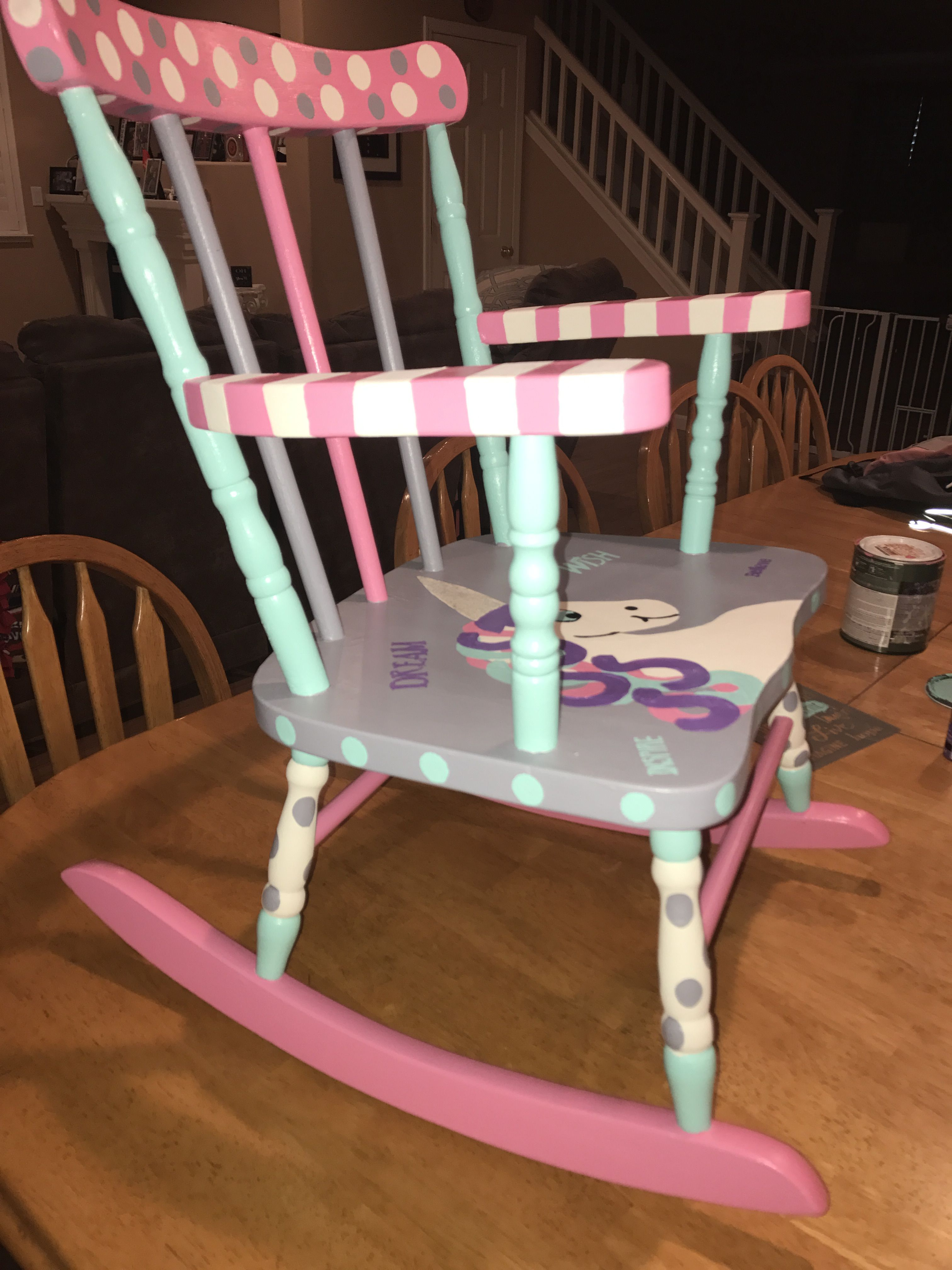 Unicorn Chair Girls Rocking Chair Girls Chairs Kids Chairs