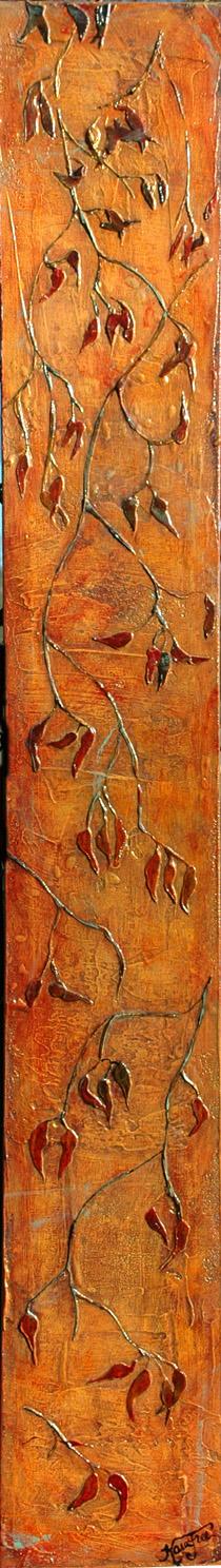 red vine texture painting, Kara Freeman art