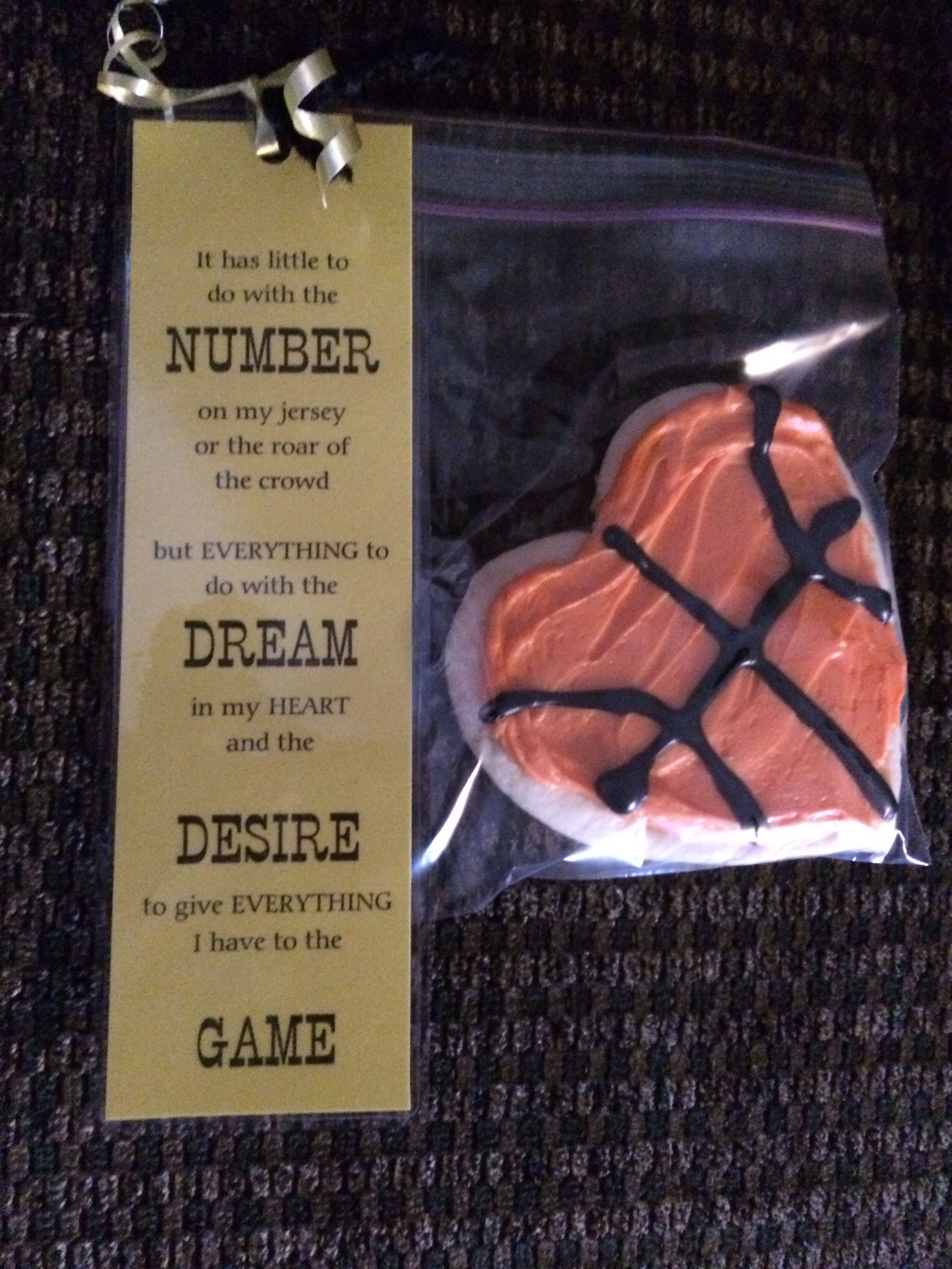 00fc1c0f1a What a cute thing to give to players. I just might have to do this for my  school's teams.