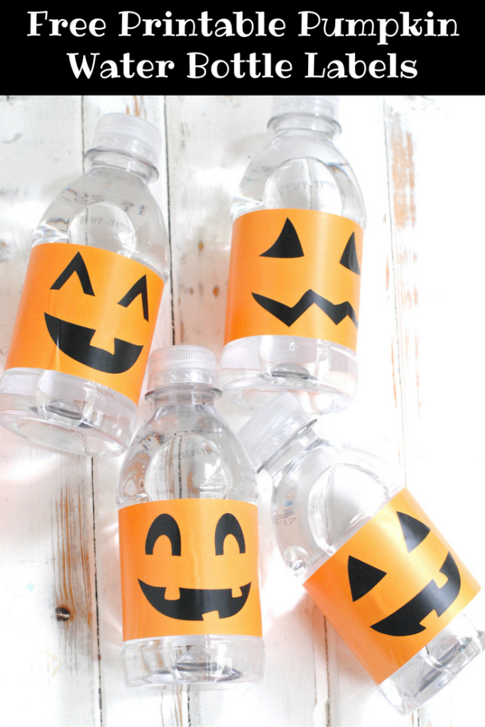 Free Printable Pumpkin Water Bottle Labels