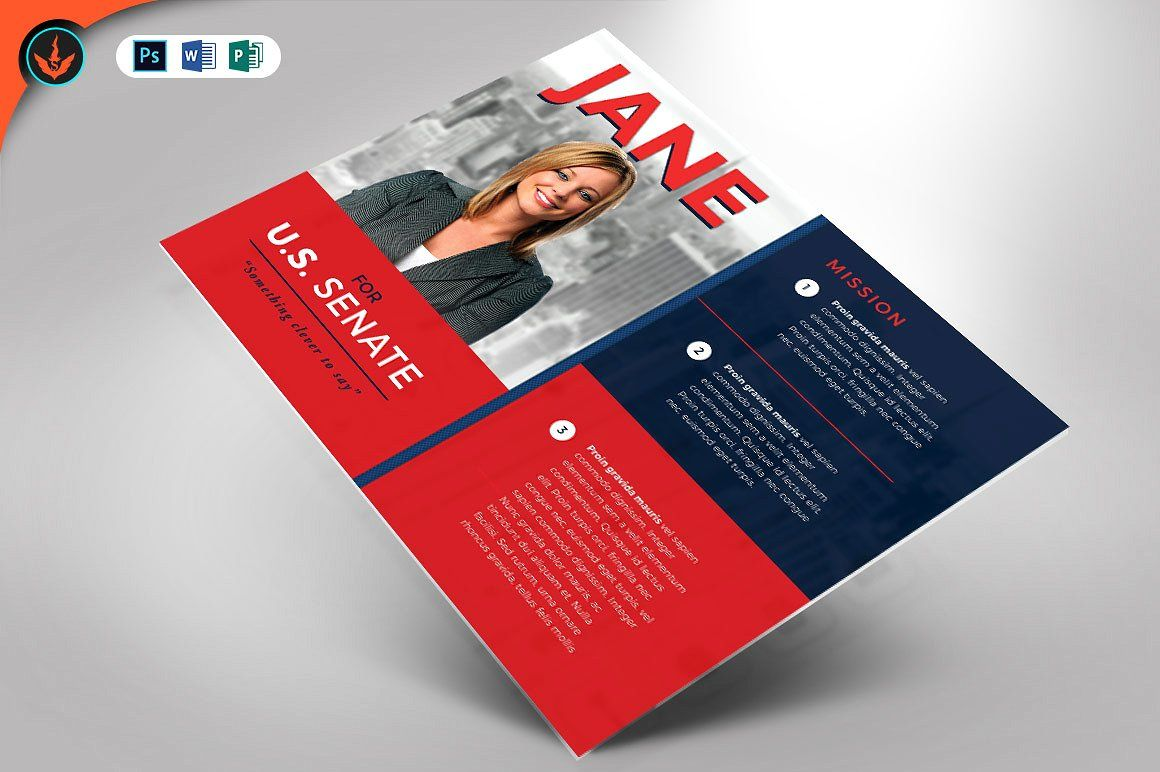 Political Flyer Template 3 Political Event Campaign Quality