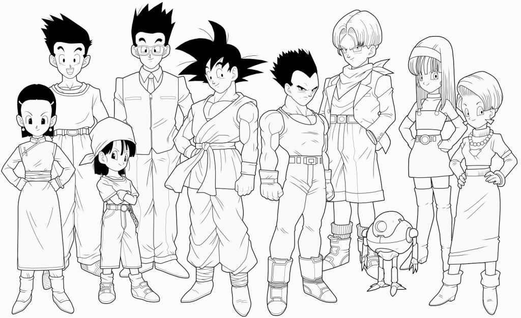 Dragon Ball Gt Coloring Pages | Coloring Pages | Pinterest
