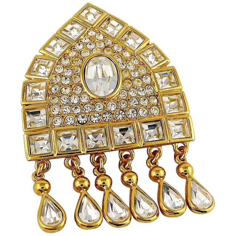 689d3f421a8 Yves Saint Laurent YSL Vintage Jewelled Russian Inspired Brooch ...