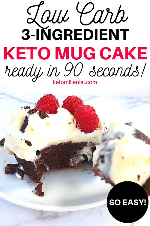 Easy keto mug cake no flour recipe that will become your ...