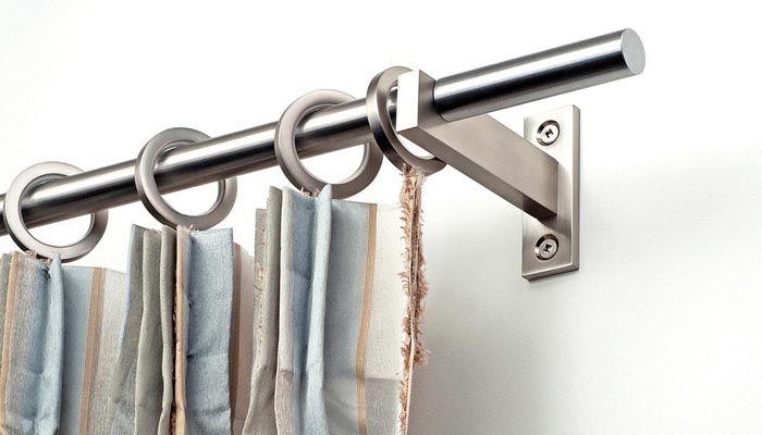 Mira Nickel Finish Stainless Steel Curtain Rods. Love the sleek look ...
