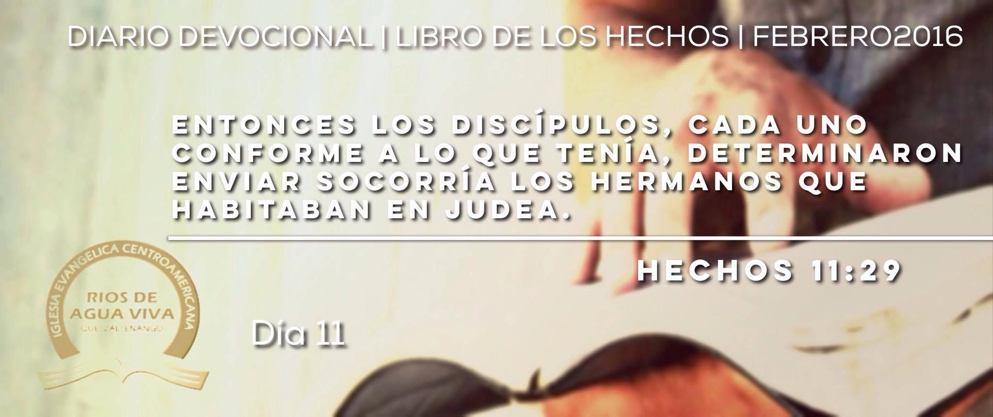 Día 11 - Hechos 11 #Devocional #LibroDeLosHechos #IcaRiosXela