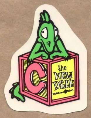 The New Deal block c sticker