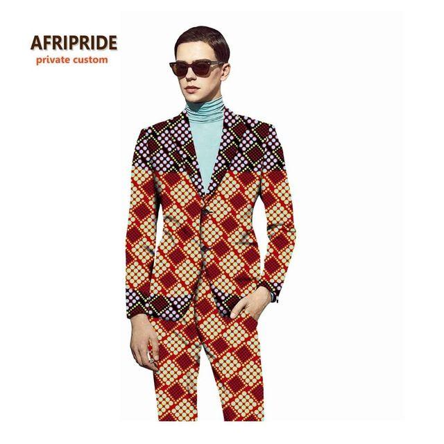 17 Africano roupas da moda roupas masculinas mais recentes modelos casaco  calça conjunto terno plus size impressão de cera de algodão de alta  qualidade ... 57d51da0c827