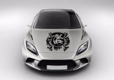 Heraldic Lion Hood Vinyl Car Graphics Ar Products - Vinyl decals car wash