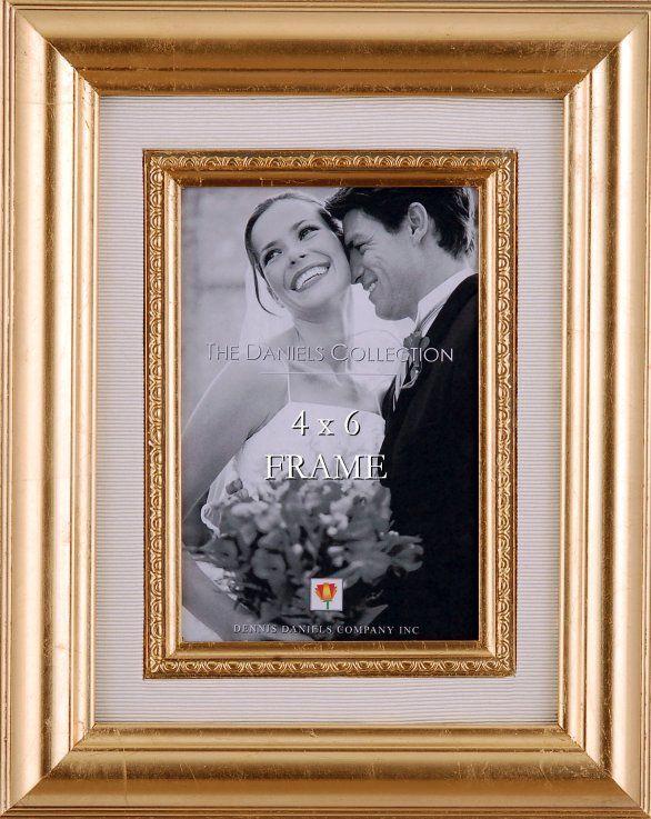 Decorative Gold Leaf Frame With Silk Mat Frame Silver Leaf Wedding Frames