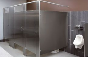 Lovely Commercial Bathroom Stainless Steel Privacy Stall Partition Walls. Design Inspirations