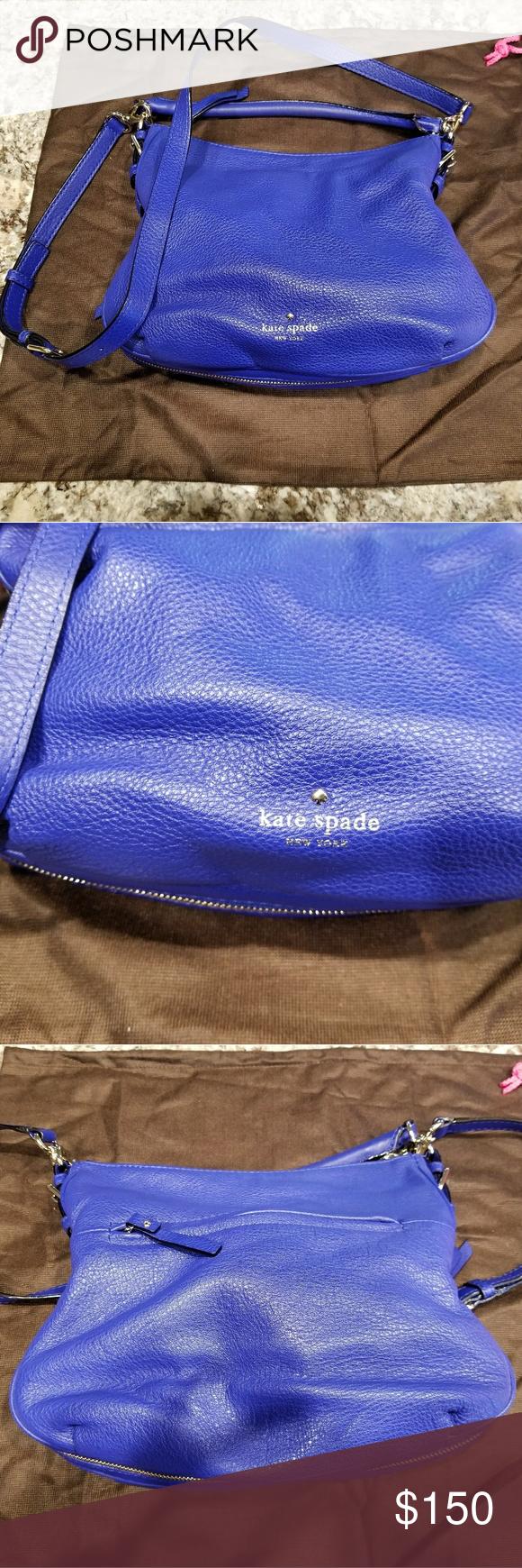 Kate Spade Crossbody Bag Cobalt blue crossbody bag. Barely used. kate spade Bags Crossbody Bags
